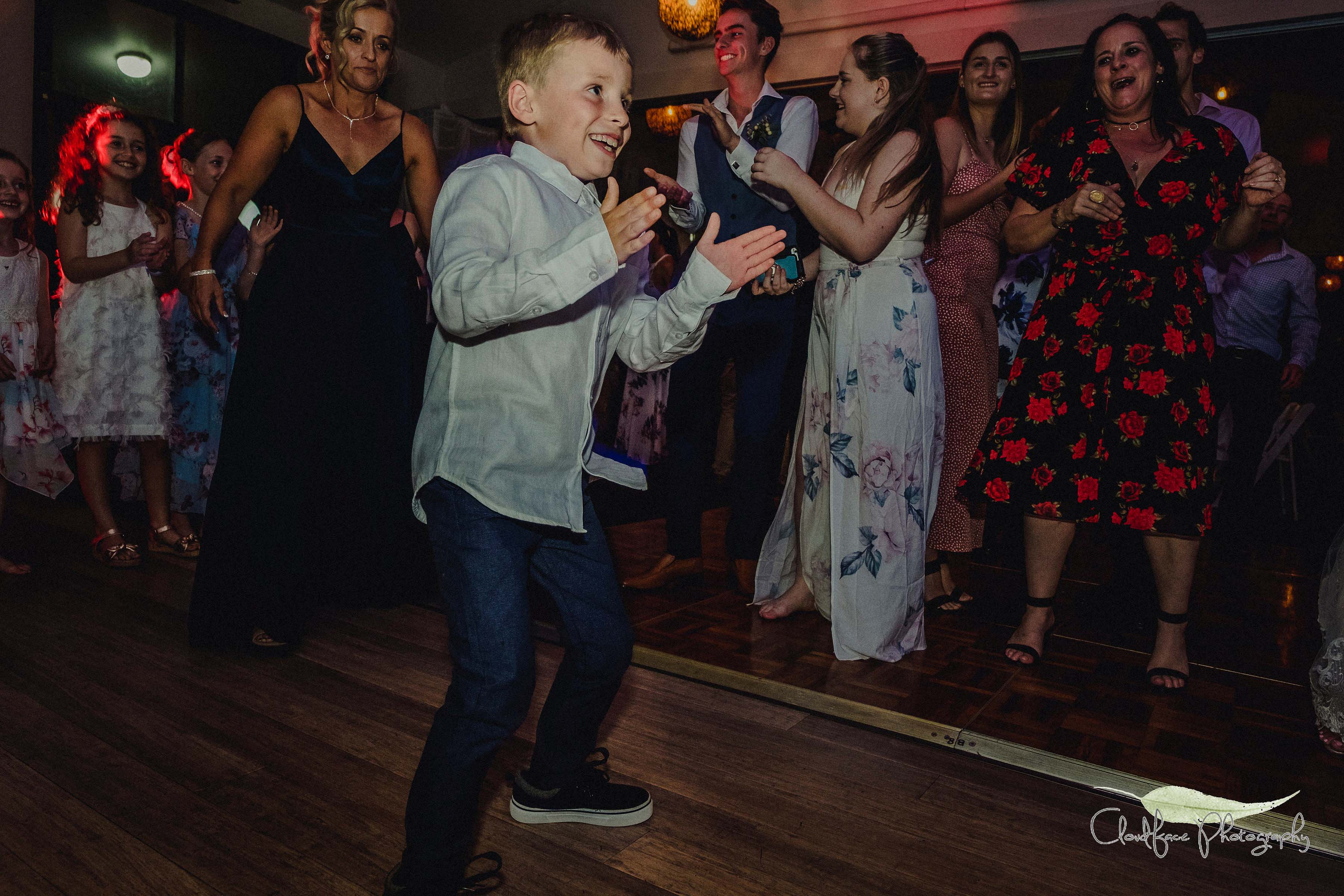 DJ  South Coast TJ Productions Murramarang Resort Children Wedding Dance Cloudface Photography